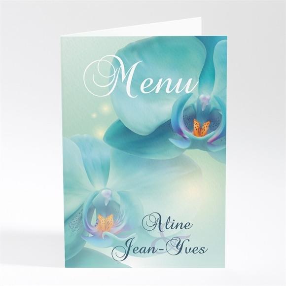 Menu mariage Orchidées bleues réf.N401127