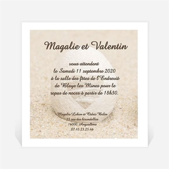 Carton d'invitation mariage Zen réf.N30023