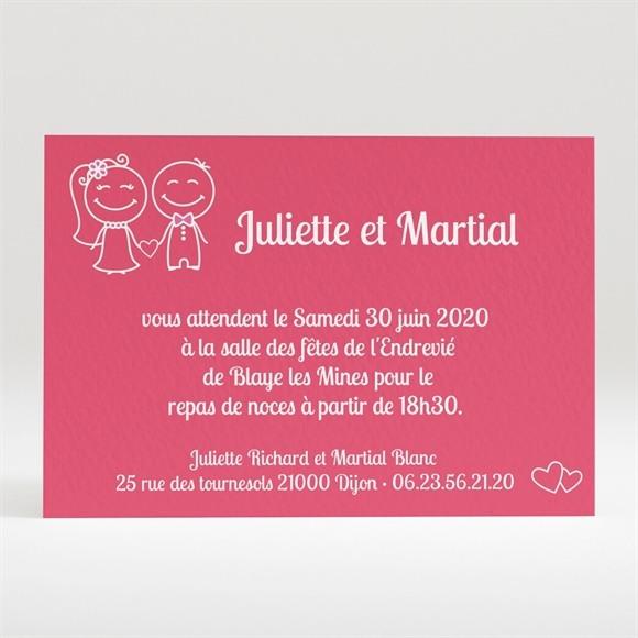 Carton d'invitation mariage Ardoise d'écolier et humour réf.N120170