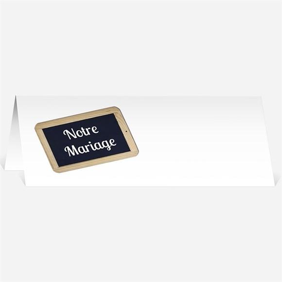 Marque-place mariage Ardoise d'écolier et humour réf.N44096
