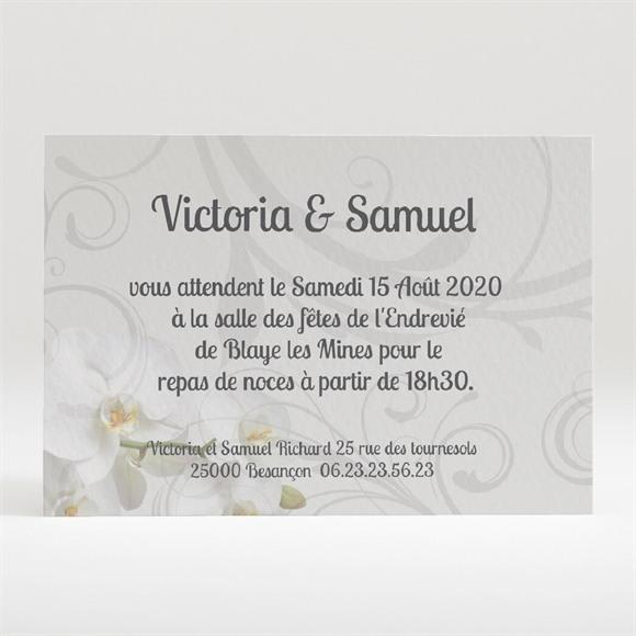 Carton d'invitation mariage Photos dans les cadres réf.N120173