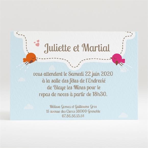 Carton d'invitation mariage La célébration originale réf.N120175