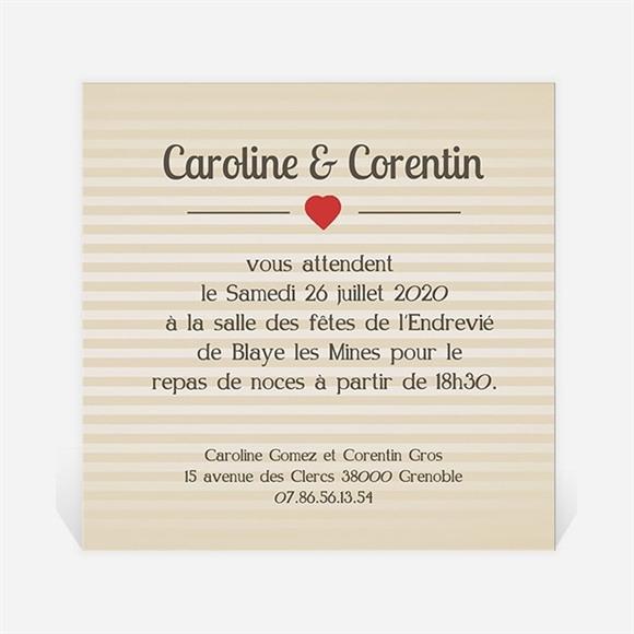 Carton d'invitation mariage Voiture vintage réf.N30025