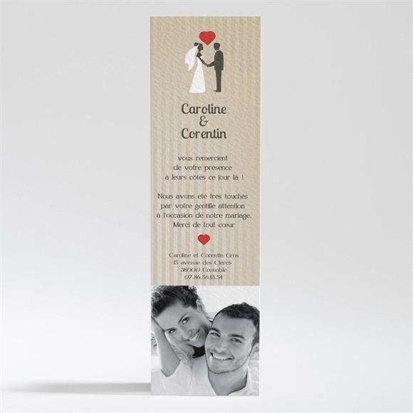 Remerciement mariage marque page Voiture vintage réf.N200127