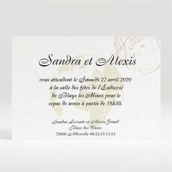 Carton d'invitation mariage Passeport de l'Amour réf.N120179