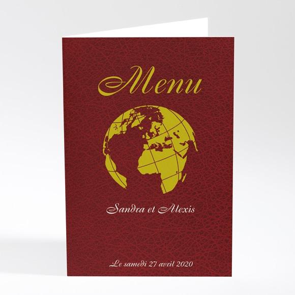 Menu mariage Passeport de l'Amour réf.N401141