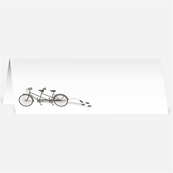Marque-place mariage Deux mariés à vélo réf.N440107
