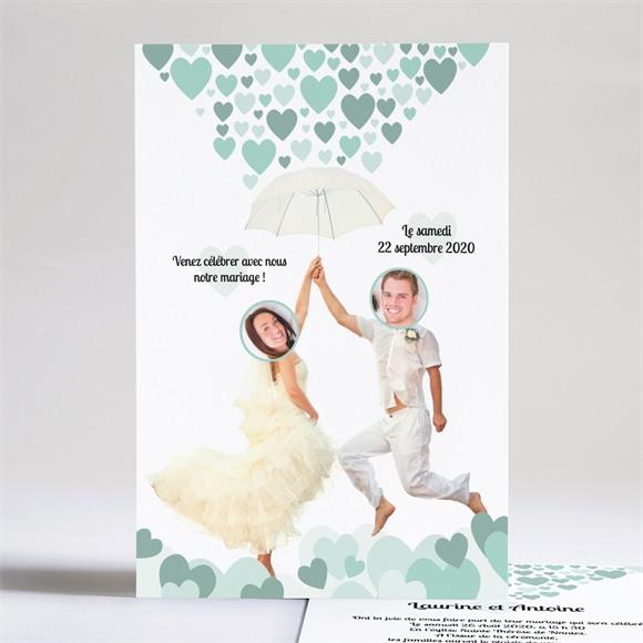 Faire-part mariage Sous les coeurs de l'Amour réf.N24113