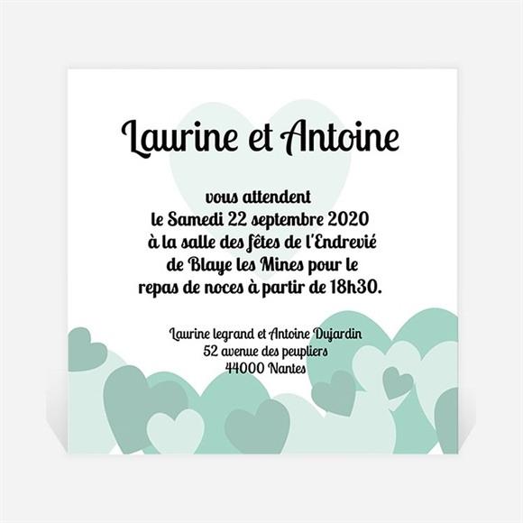 Carton d'invitation mariage Sous les coeurs de l'Amour réf.N30026