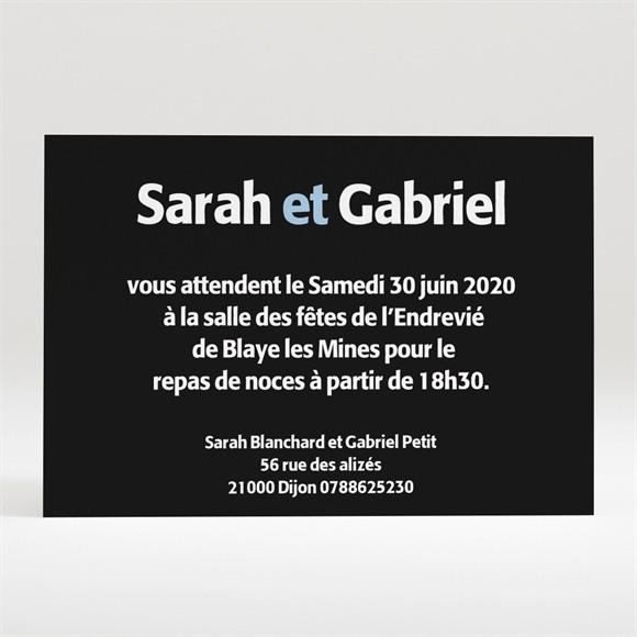 Carton d'invitation mariage Annonce décalée réf.N120181