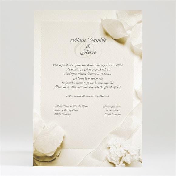 Faire-part mariage Beau parchemin réf.N24015
