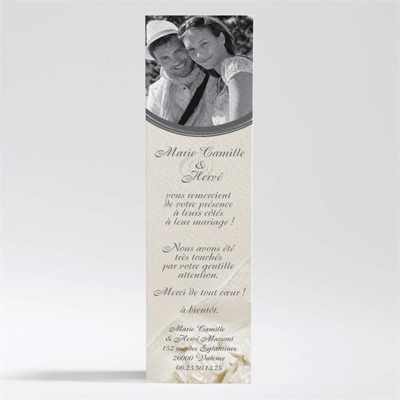 Remerciement mariage Beau parchemin réf.N200138