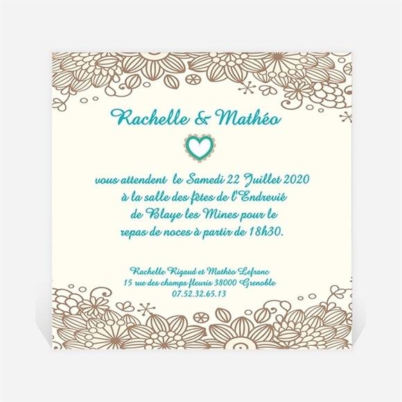 Carton d'invitation mariage Notre Histoire réf.N30027