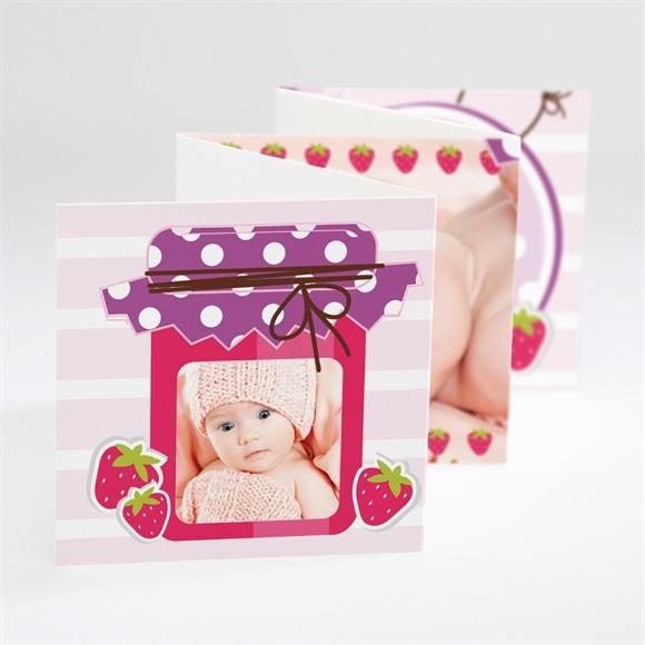 Faire-part naissance Jolie Petite Fraise réf.N80015