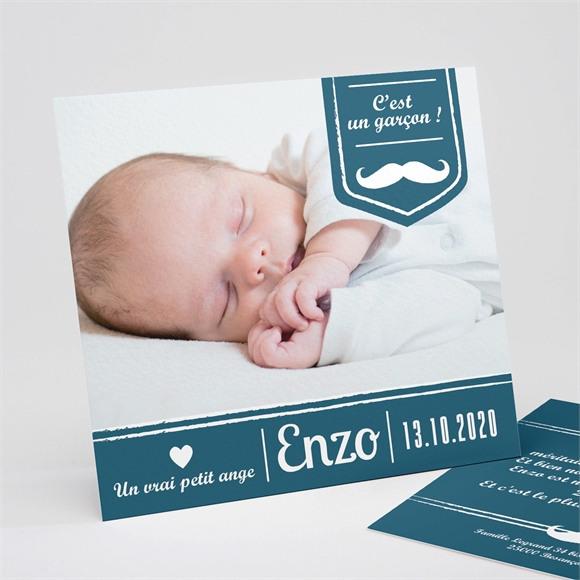 Faire-part naissance Petite Moustache réf.N31127