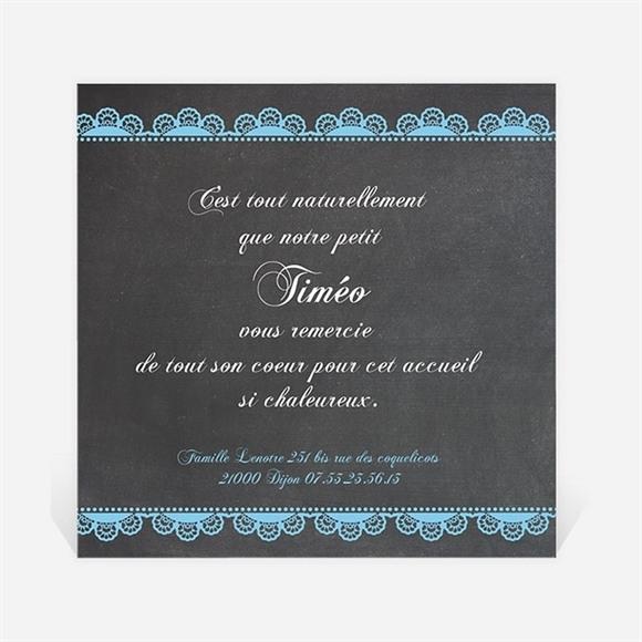 Remerciement naissance Design vintage ardoise réf.N30050