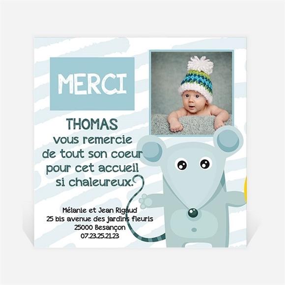 Remerciement naissance Souriceau réf.N30069