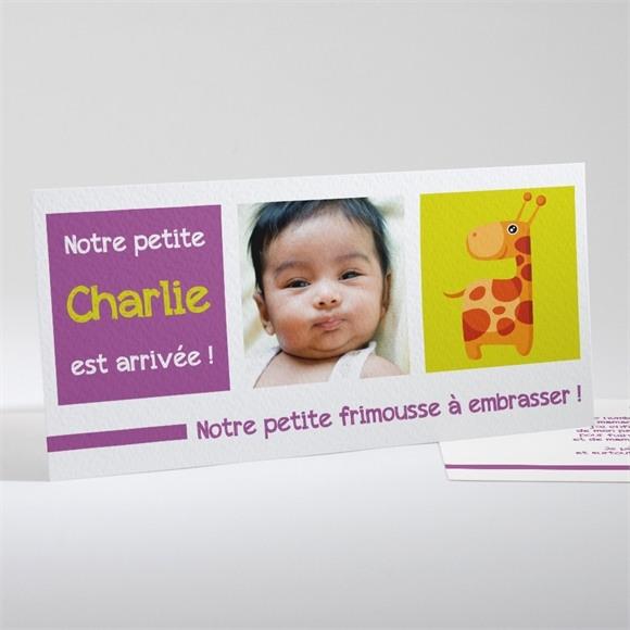 Faire-part naissance Ma jolie girafe réf.N13113