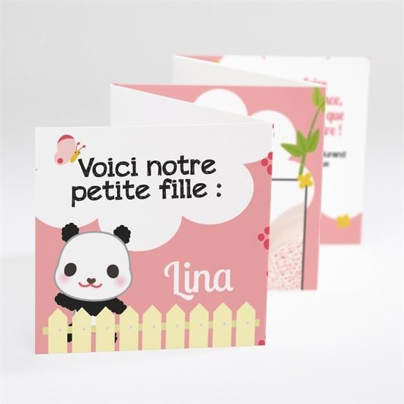 Faire-part naissance Un Amour de Panda réf.N80021
