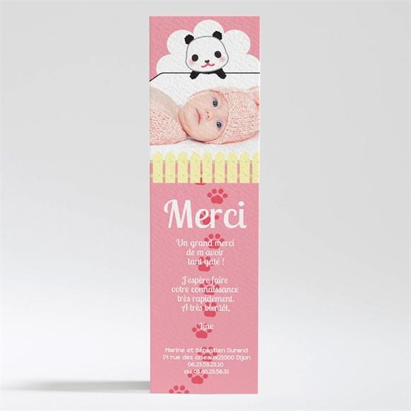 Remerciement naissance Un Amour de Panda réf.N200155