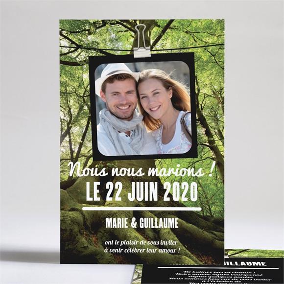 Faire-part mariage Marions nous dans les bois réf.N24126