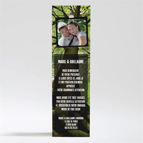 Remerciement mariage Marions nous dans les bois réf.N200160