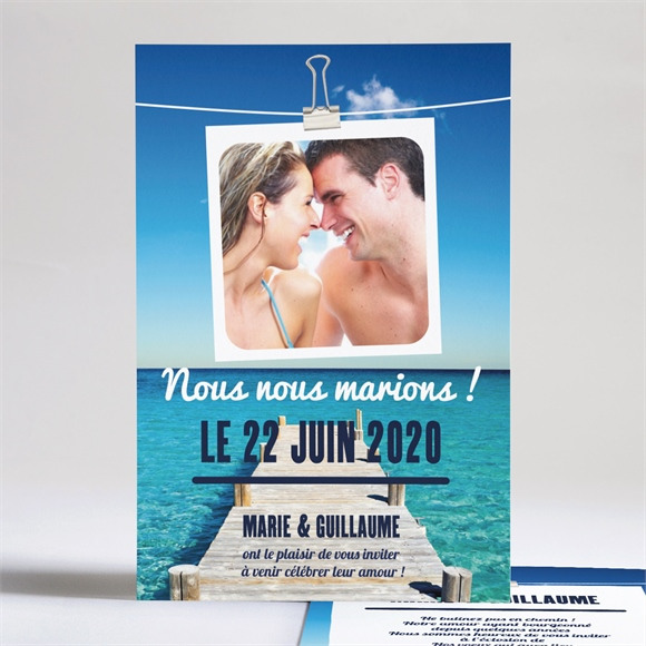Faire-part mariage Sur le ponton réf.N24127