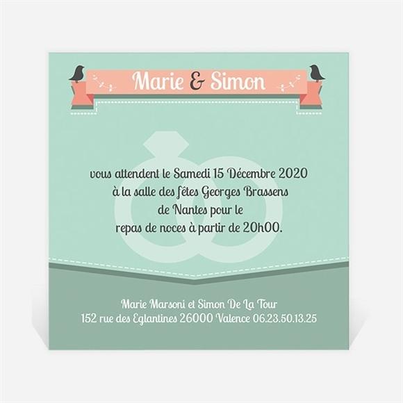 Carton d'invitation mariage Silhouettes noires et blanches réf.N30094