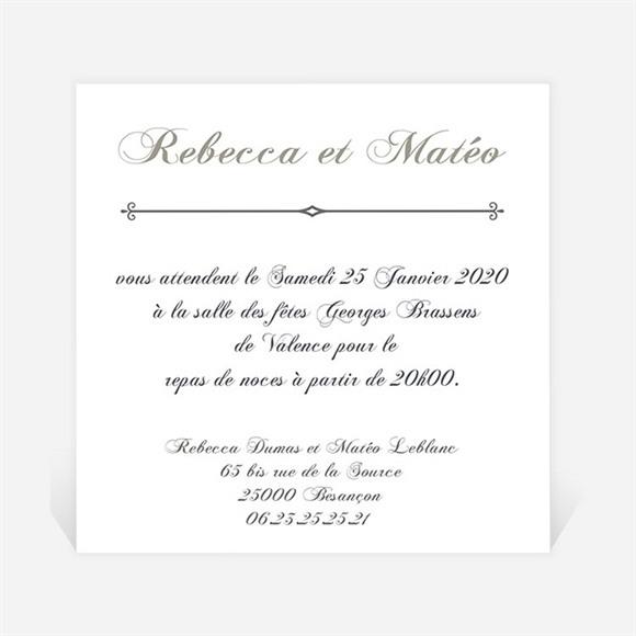 Carton d'invitation mariage Sérénité réf.N30097
