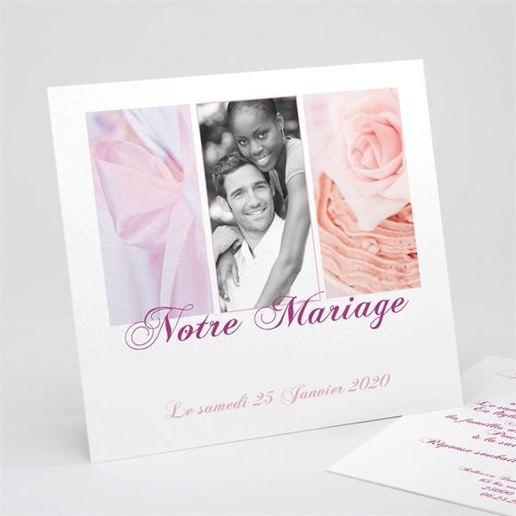 Faire-part mariage Dans un lit de roses réf.N31139