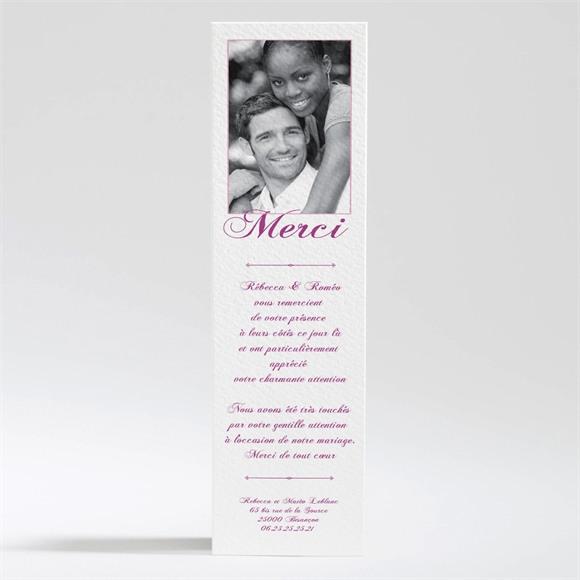 Remerciement mariage Dans un lit de roses réf.N200167