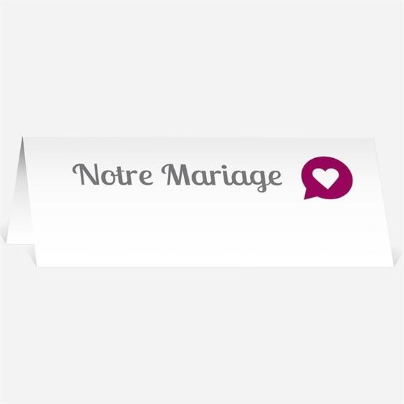 Marque-place mariage Vous êtes invités réf.N440122
