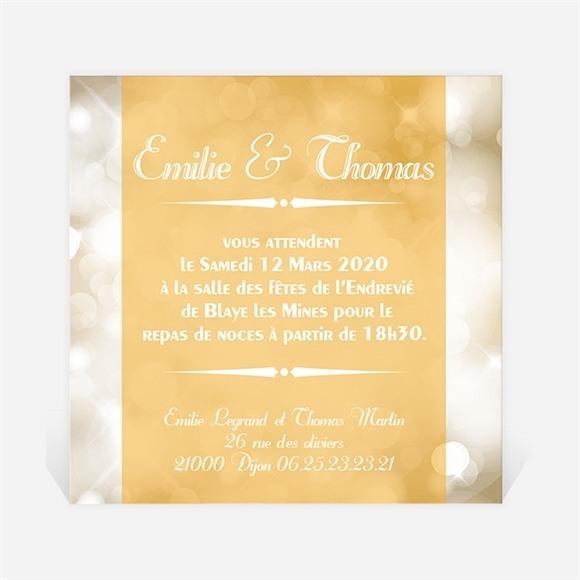 Carton d'invitation mariage Scintillements réf.N30099