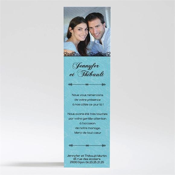 Remerciement mariage En Bleu et Noir réf.N200172