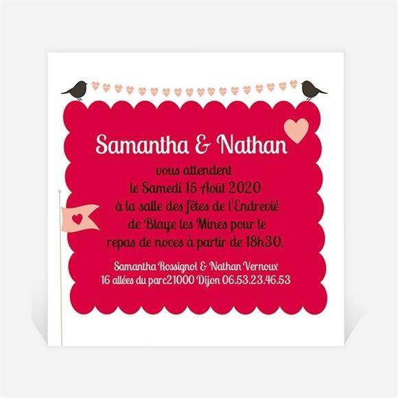 Carton d'invitation mariage L'enclos de notre Amour réf.N300102