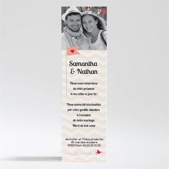 Remerciement mariage L'enclos de notre Amour réf.N200173