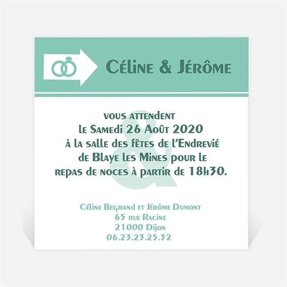 Carton d'invitation mariage Destination notre Bonheur réf.N300104