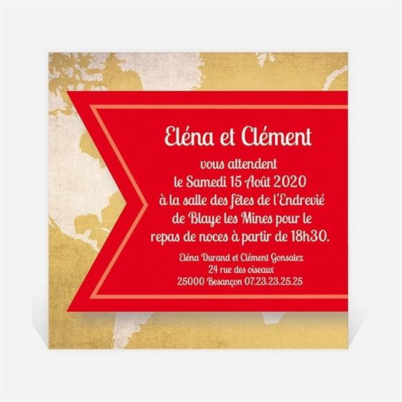 Carton d'invitation mariage Carte postale voyage réf.N300103