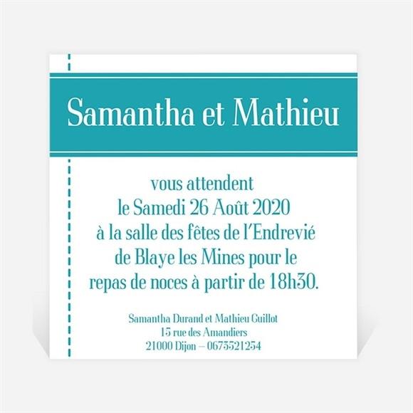 Carton d'invitation mariage Pour la Vie réf.N300105
