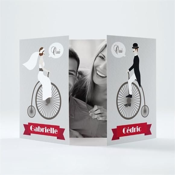 Faire-part mariage Vélo vintage photo réf.N70127
