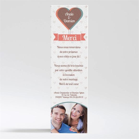 Remerciement mariage Ballon en coeur poétique réf.N200180