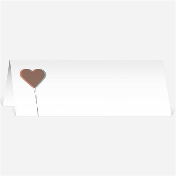 Marque-place mariage Ballon en coeur poétique réf.N440134