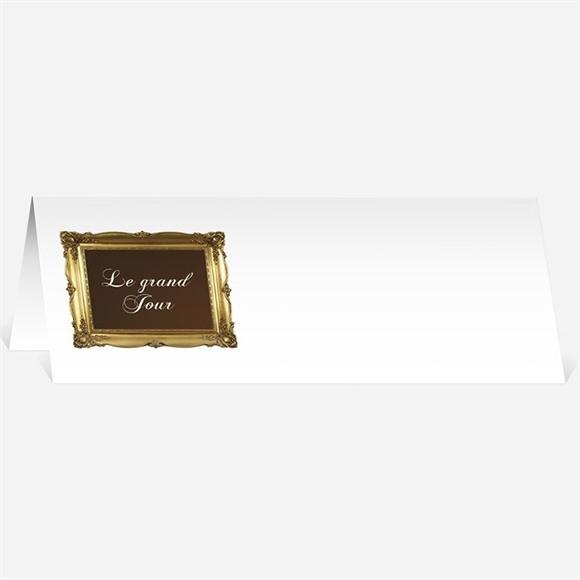 Marque-place mariage Marron et doré réf.N440137
