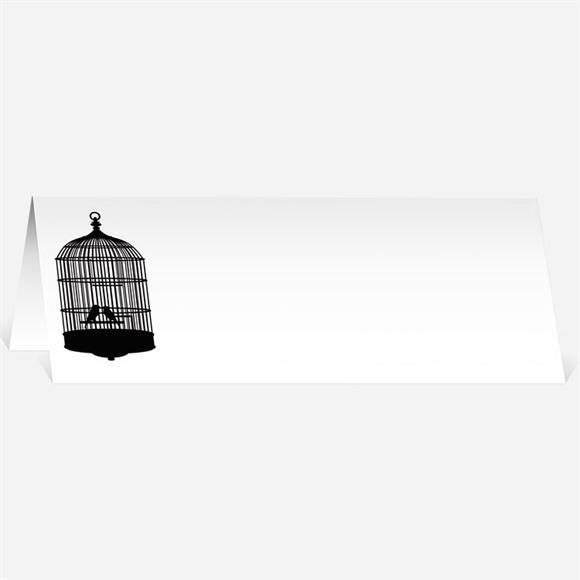Marque-place mariage Oiseaux à l'Encre de Chine réf.N440136