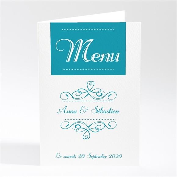 Menu mariage invitation avec Photo original réf.N401166