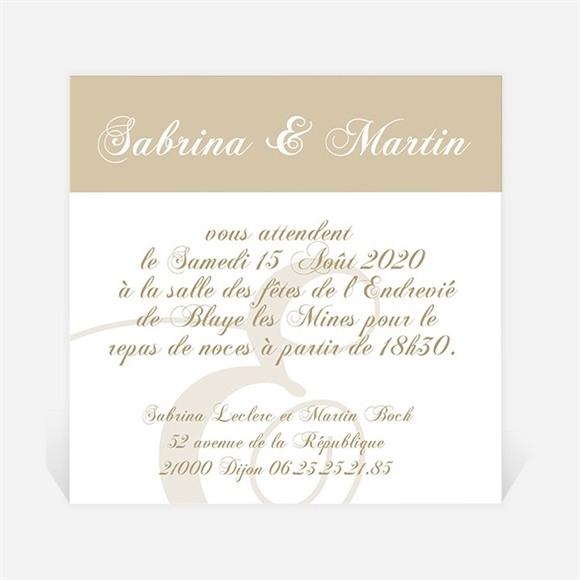 Carton d'invitation mariage Tendance et photos réf.N300115