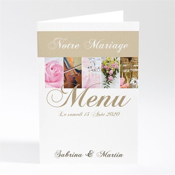 Menu mariage Tendance et photos réf.N401175