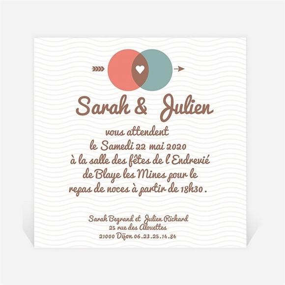 Carton d'invitation mariage A la croisée des chemins réf.N300107