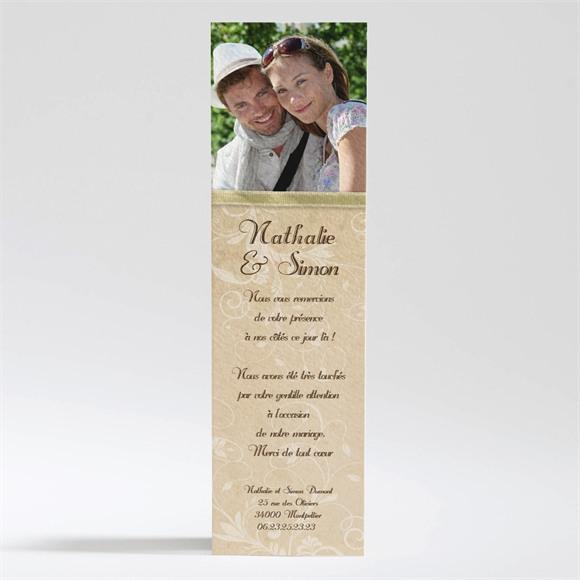 Remerciement mariage Imitation original beige réf.N200185