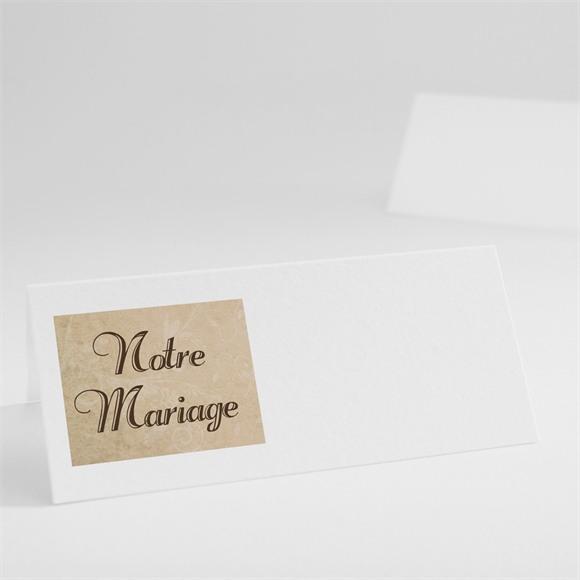 Marque-place mariage Imitation original beige réf.N440140